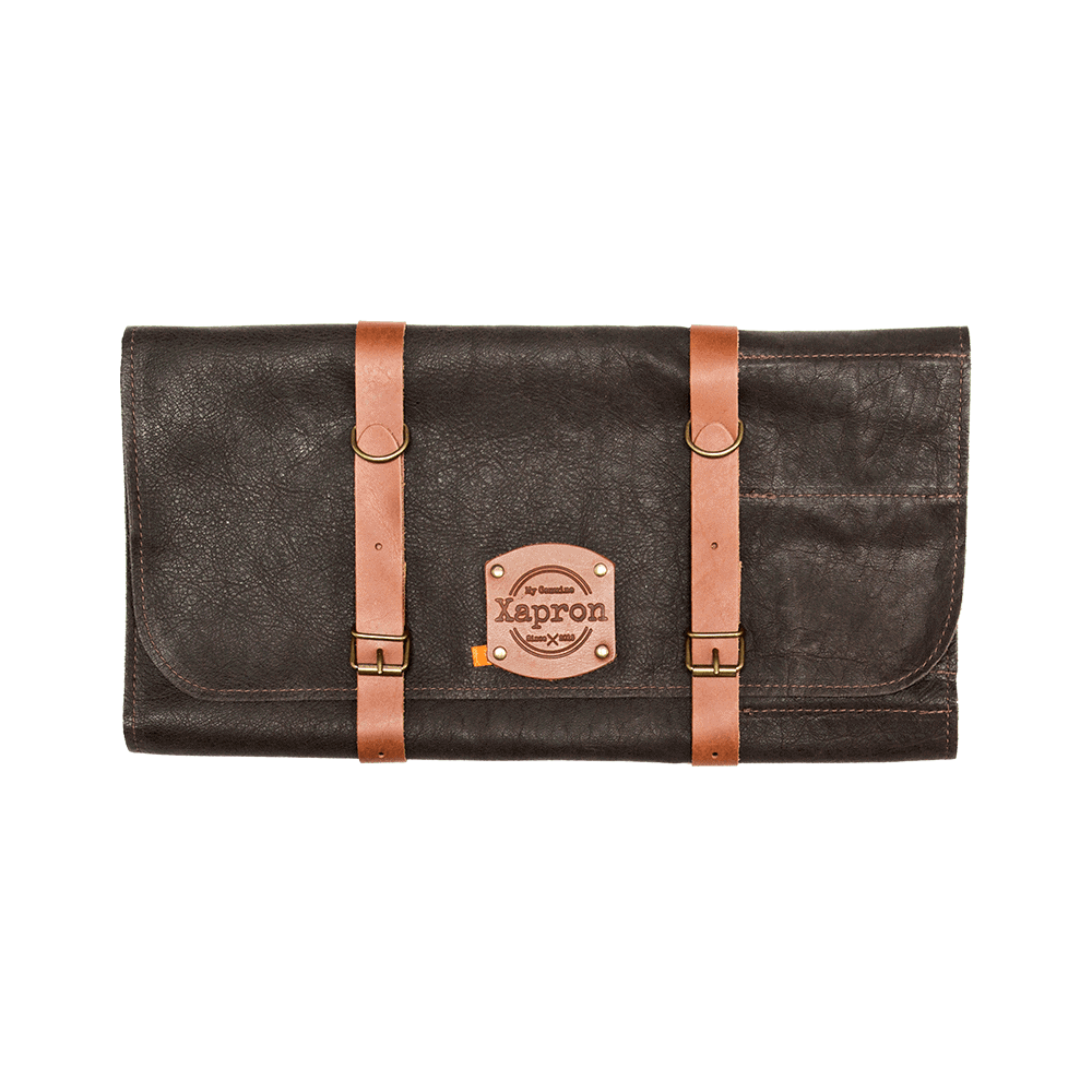 Knife Roll Bag Utah - Choco - 10 Knifes