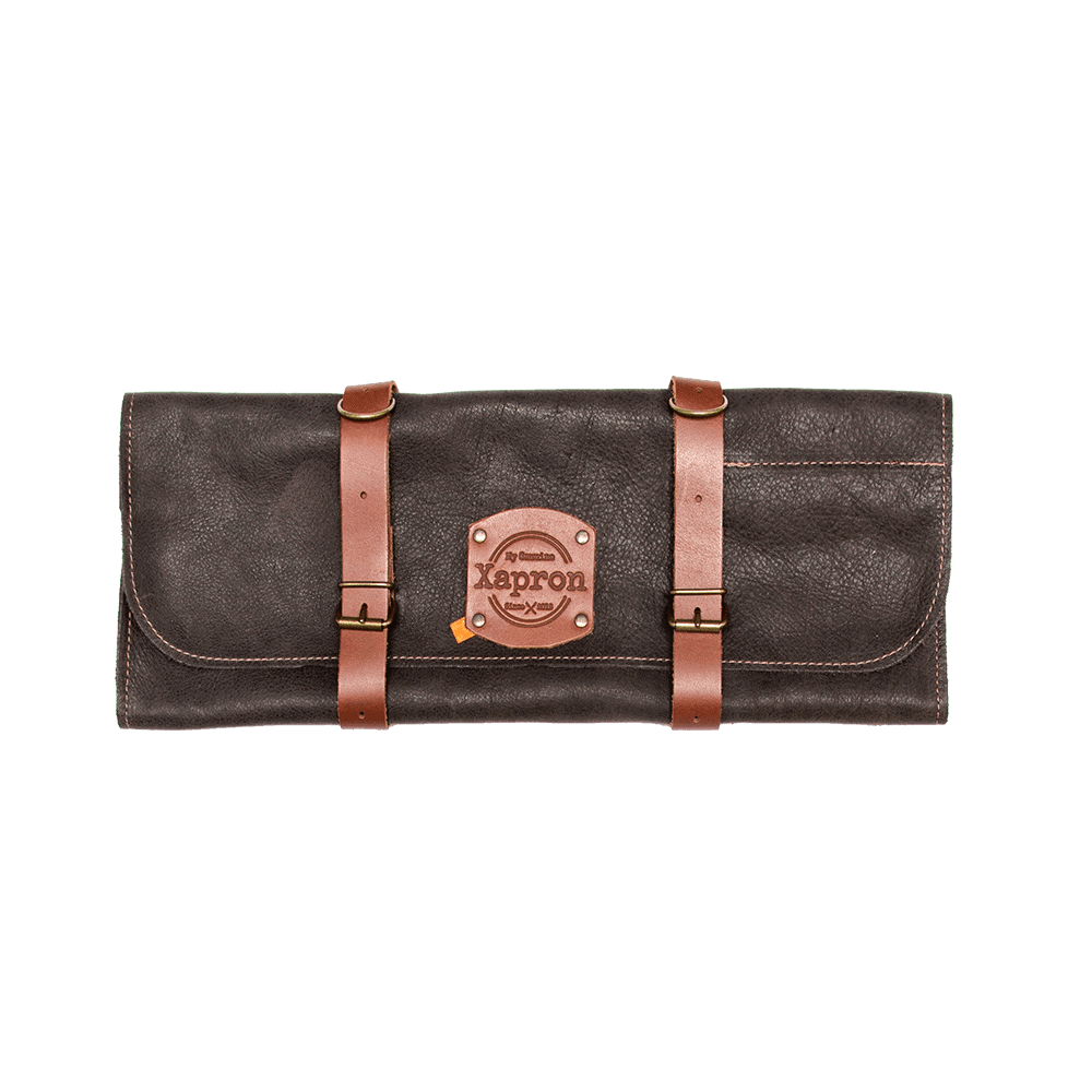 Knife Roll Bag Utah - Choco - 5 Knifes