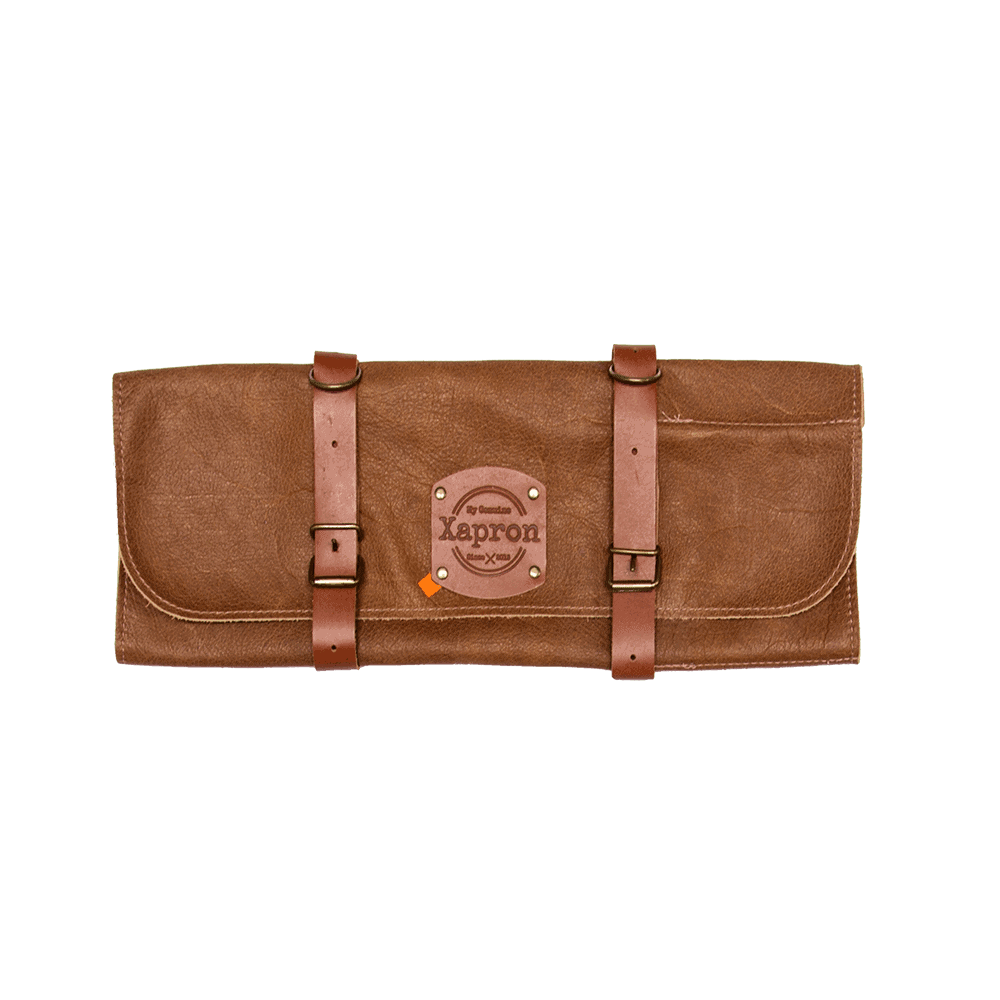Knife Roll Bag Utah - Rust - 5 Knifes