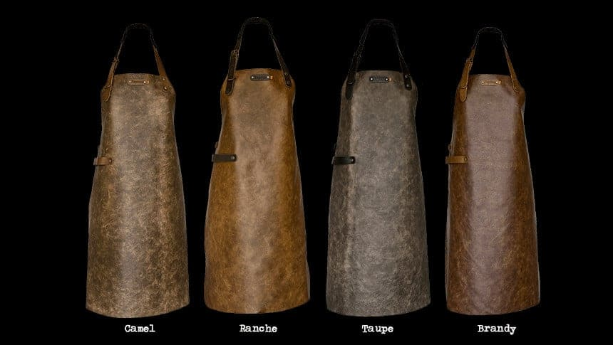 Crafted Leather /& Lifestyle Vintage Apron 100/% Cow Leather Cognac