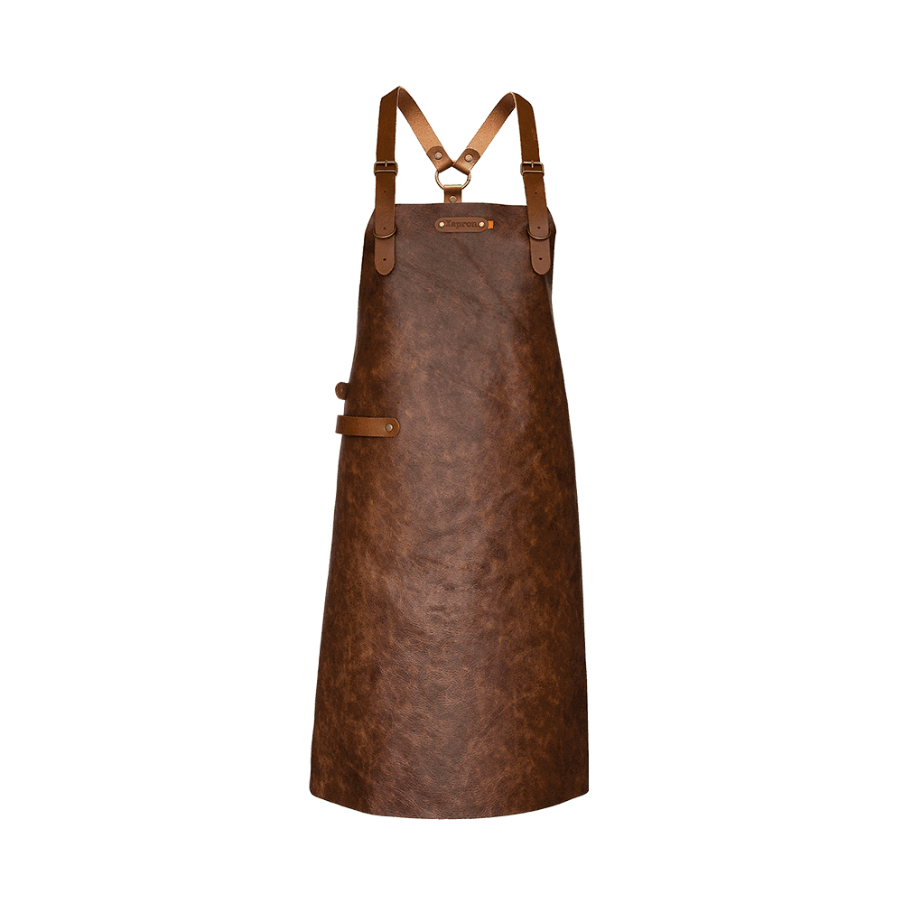 Apron Atlanta With Shoulder Straps - Brandy