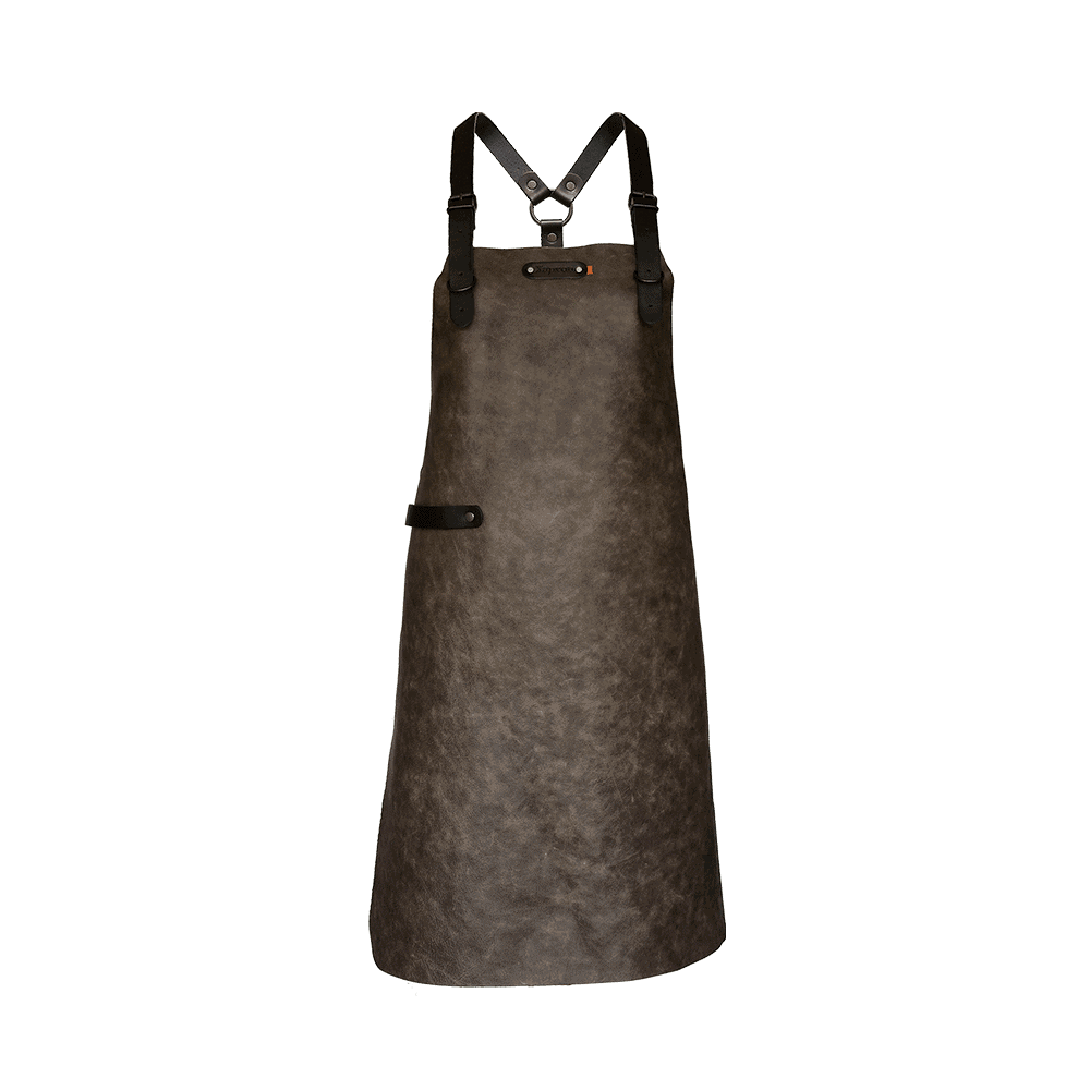 Apron Atlanta With Shoulder Straps - Taupe